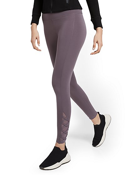 High-Waisted Lattice Legging - New York & Company