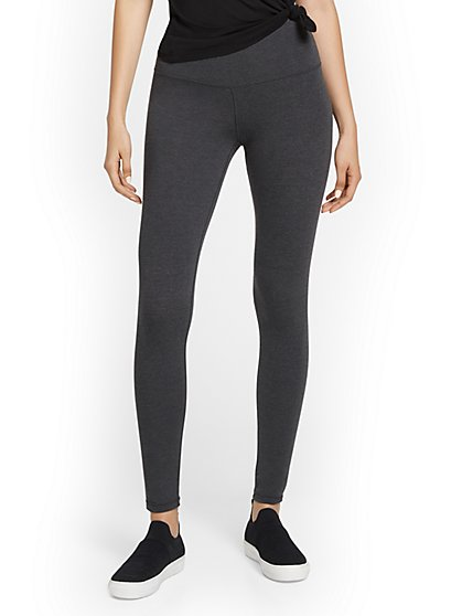 High-Waisted Legging - Heather Grey - New York & Company