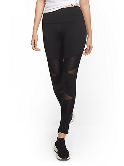 High-Waisted Mesh Cut-Out Legging - New York & Company