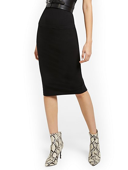 High-Waisted Midi Skirt - Everyday Collection - New York & Company
