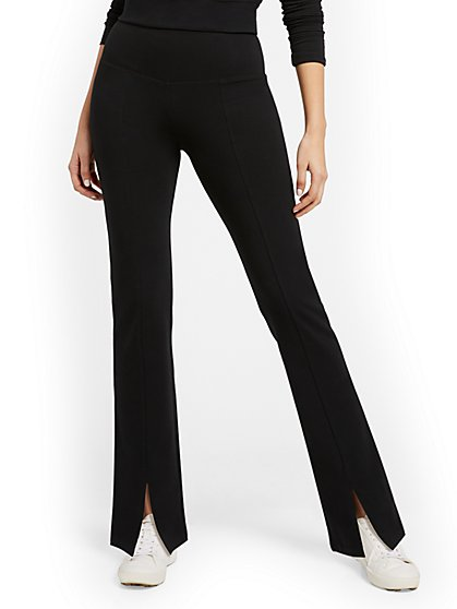 High-Waisted Pocket Bootcut Yoga Pant - New York & Company
