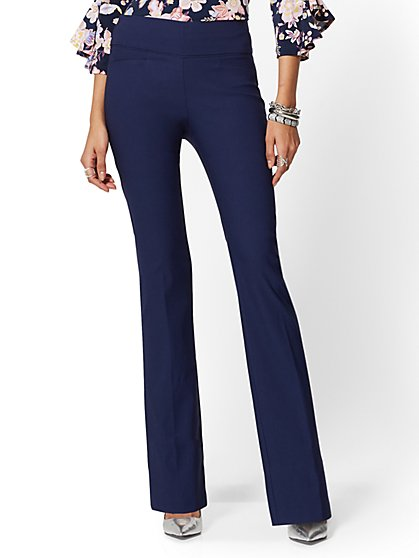 High-Waisted Pull-On Bootcut Pant - New York & Company