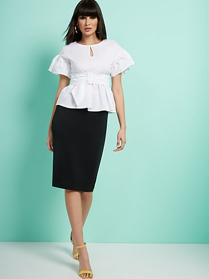 High-Waisted Pull-On Skirt - New York & Company