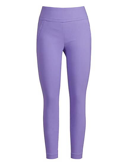 High-Waisted Pull-On Slimming Ankle Pant - 7th Avenue - New York & Company