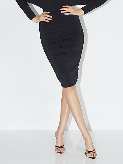 High-Waisted Ruched Pencil Skirt - NY&C Style System - New York & Company