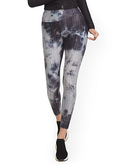 High-Waisted Shirred Tie-Dye Legging - New York & Company