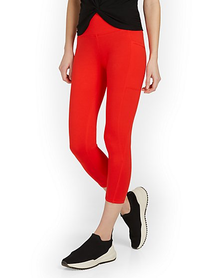 High-Waisted Side-Pocket Capri Legging - New York & Company
