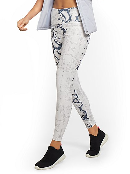 High-Waisted Snake-Print Legging - New York & Company