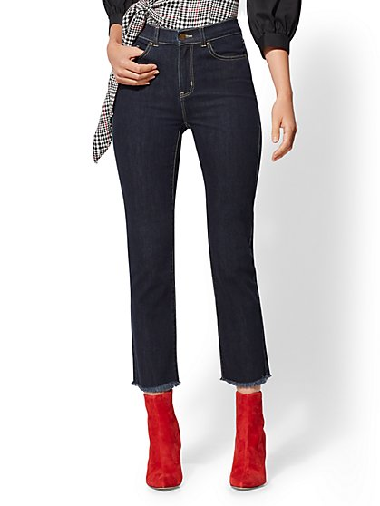 High-Waisted Straight-Leg Jeans - New York & Company
