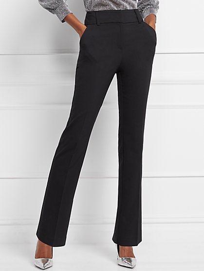 High-Waisted Straight-Leg Pant - Modern Fit - All-Season Stretch - 7th Avenue - New York & Company
