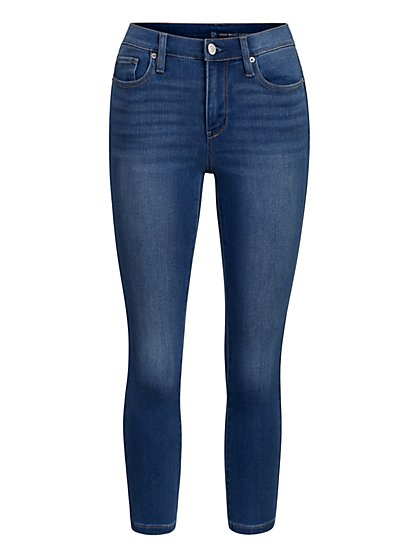 High-Waisted Super-Skinny Capri Jeans - New York & Company