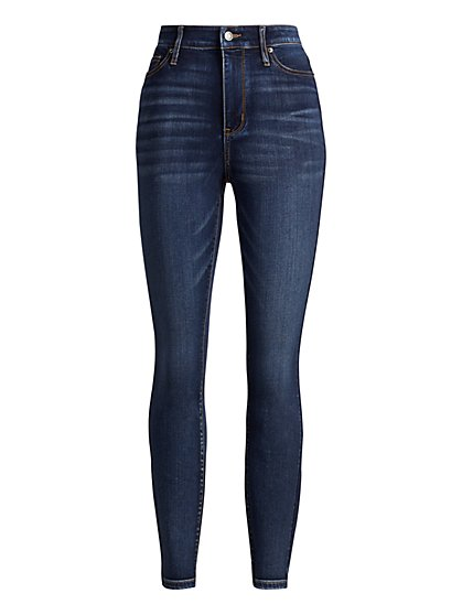 High-Waisted Super-Skinny Jeans - Cowboy Blue - New York & Company