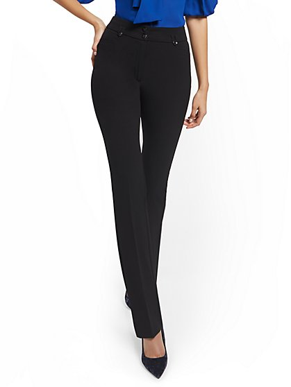 High-Waisted Two-Button Straight-Leg Pant - New York & Company