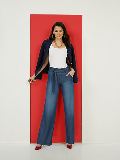High-Waisted Wide-Leg Jeans - New York & Company