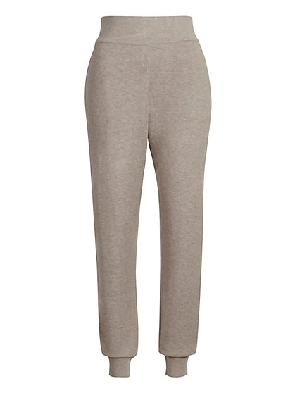 High-Waisted Wide-Rib Sweater Jogger - New York & Company