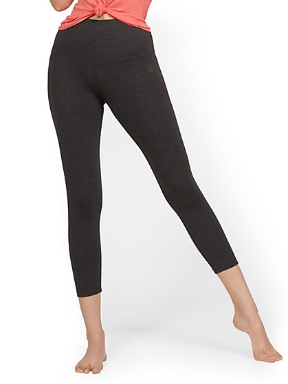 High-Waisted Yoga Capri Pant - Heather Grey - New York & Company