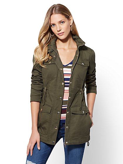 Hooded Anorak Jacket - New York & Company