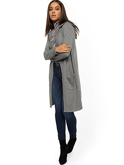 Hooded Cardigan Sweater - New York & Company