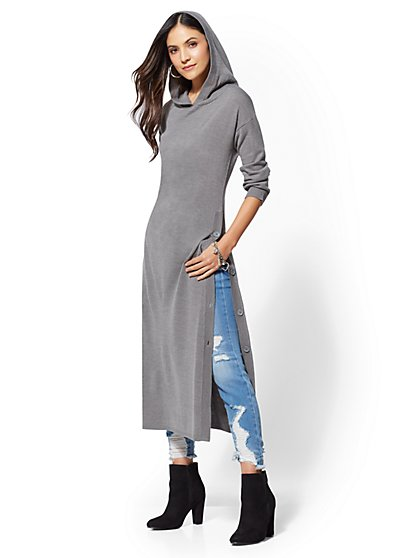 Hooded Maxi Tunic - Soho Street - New York & Company