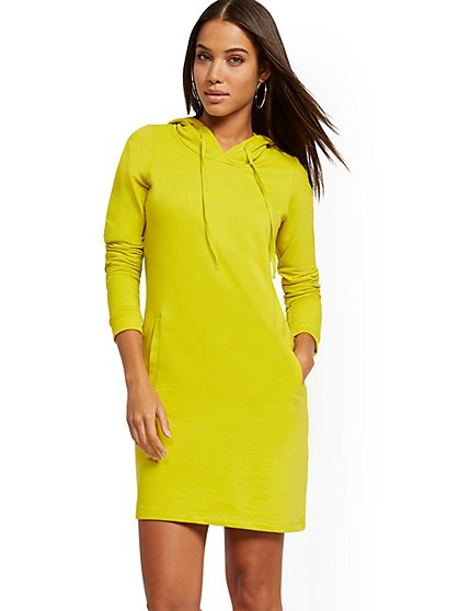 Hooded Sweatshirt Dress - Soho Street - New York & Company