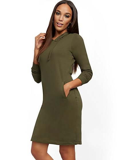 Hooded Sweatshirt Dress - New York & Company