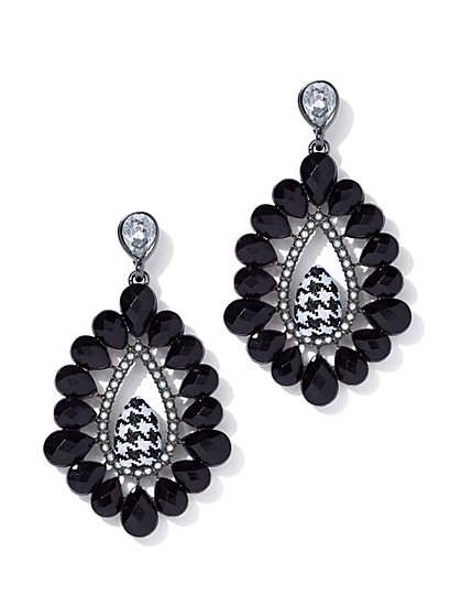 Houndstooth Drop Earring - New York & Company