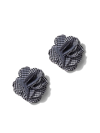 Houndstooth Floral Post Earring - New York & Company