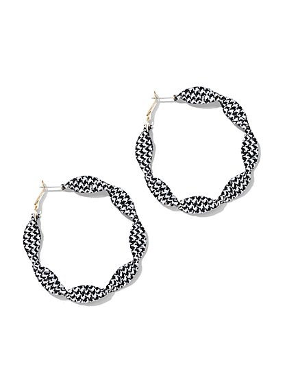 Houndstooth Hoop Earring - New York & Company