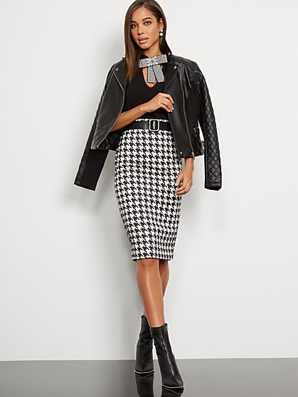 Houndstooth Pencil Skirt - 7th Avenue - New York & Company
