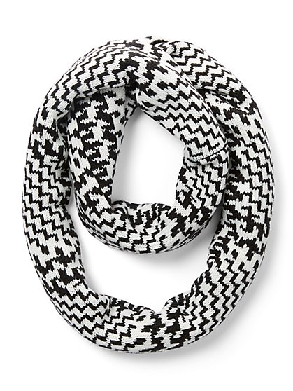 Houndstooth-Print Infinity Scarf - New York & Company