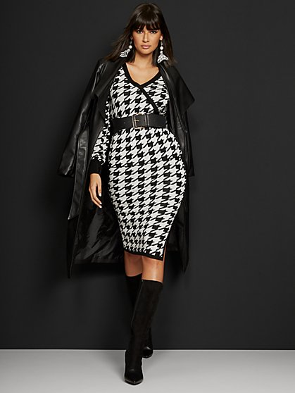 Houndstooth Sweater Pencil Skirt - 7th Avenue - New York & Company