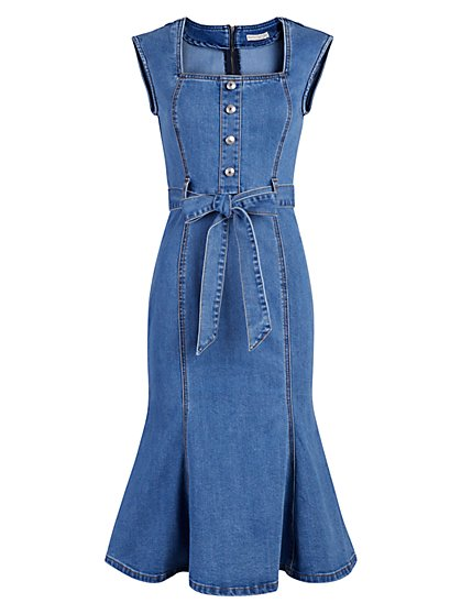 Idalia Denim Dress - Eva Mendes Collection - New York & Company