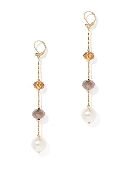 Illusion Goldtone Drop Earring - New York & Company