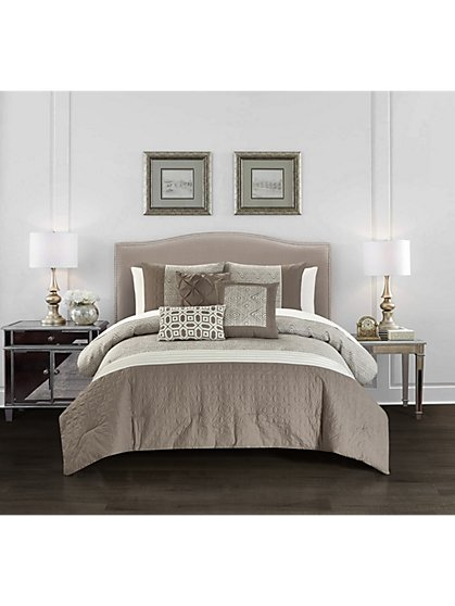 Imani Queen-Size 6-Piece Comforter Set - NY&C x Chic Home - New York & Company