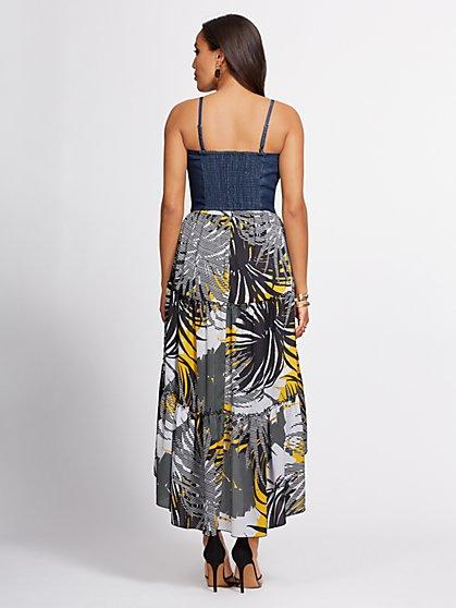 e415129ea6 ... Indigo Bow-Front Bustier Top - Gabrielle Union Collection - New York &  Company