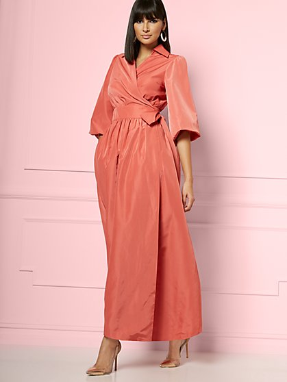 Ingrid Wrap Maxi Dress - Eva Mendes Party Collection - New York & Company