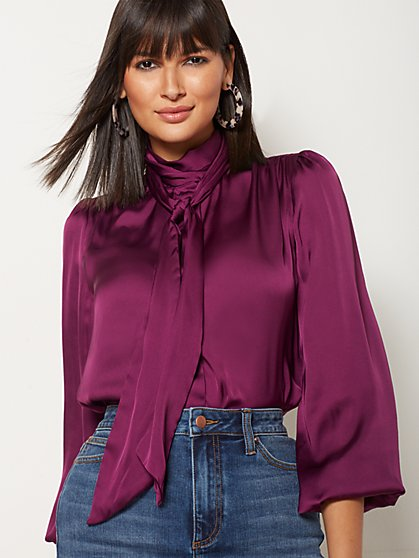 Isabella Bow Blouse - Eva Mendes Collection - New York & Company
