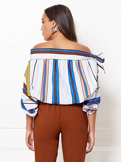 ce273dfa577a1 ... Isabelle Stripe Off-The-Shoulder Blouse - Eva Mendes Collection - New  York ...