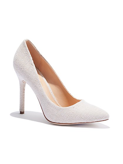 Ivory Canvas Pump - Eva Mendes Collection - New York & Company
