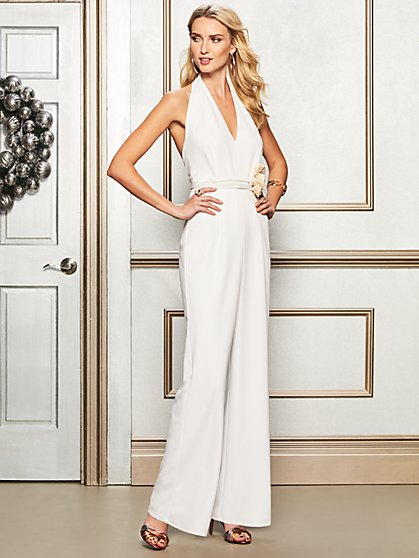 Ivory Halter Jumpsuit - New York & Company