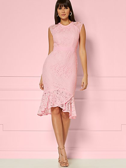 Jacinta Lace Dress - Eva Mendes Party Collection - New York & Company