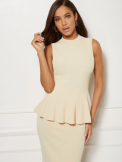 Jacqui Peplum Top - Eva Mendes Collection - New York & Company