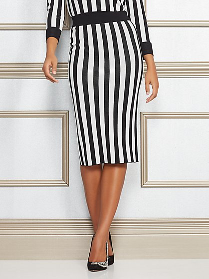Jacqui Stripe Sweater Skirt - Eva Mendes Collection - New York & Company