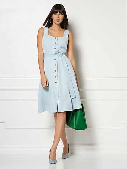 Jamee Pinafore Dress - Eva Mendes Collection - New York & Company