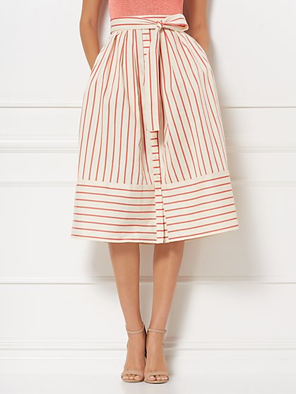 Jenni Stripe Full Skirt - Eva Mendes Collection - New York & Company