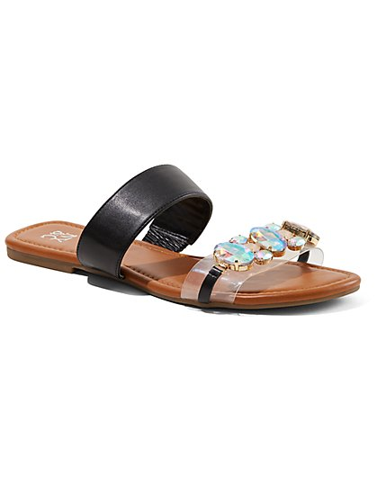 Jeweled Slide Sandal - New York & Company