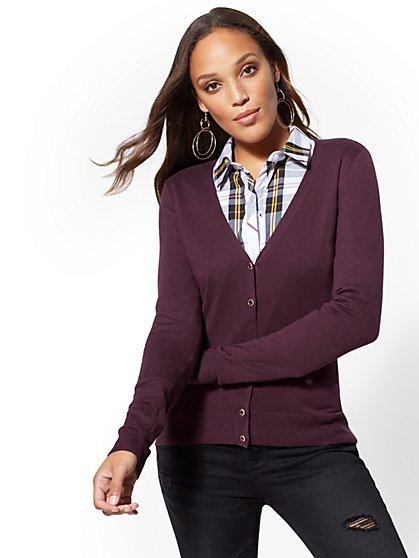 5ded32cf08 Jeweled V-Neck Chelsea Cardigan - 7th Avenue - New York   Company ...
