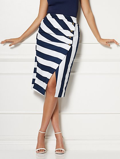 Jill Stripe Pencil Skirt - Eva Mendes Collection - New York & Company