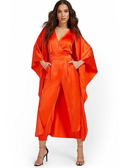 Jumpsuit with Drama Cape - New York & Company