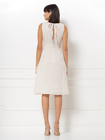 b5f9edcc45 ... Justina Stripe Linen Flare Dress - Eva Mendes Collection - New York    Company ...